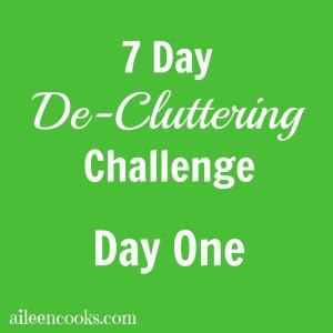 7 Day De-cluttering Challenge: Day One