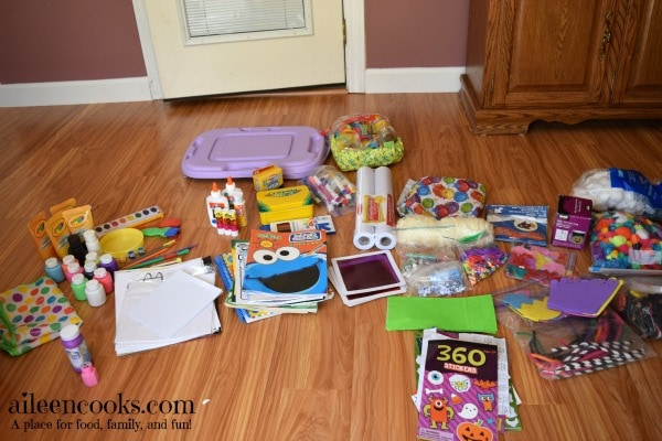 7 Day De-Cluttering Challenge Day Seven. Today I cleaned and organized our arts & crafts bins.