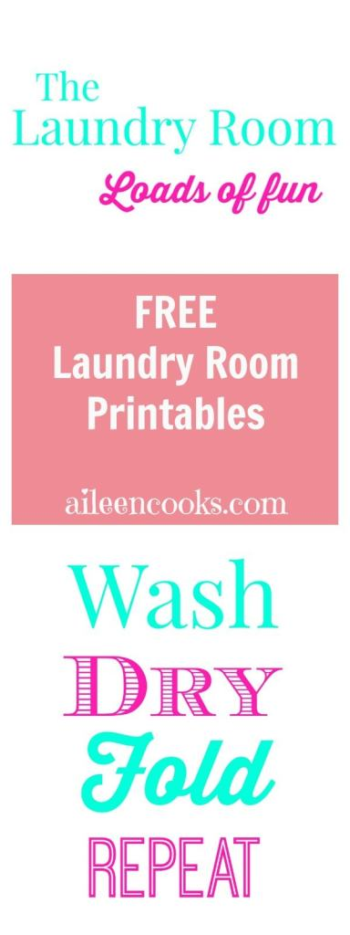 Free Laundry Room Printables from aileencooks.com