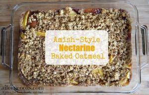 Amish-Style Nectarine Baked Oatmeal