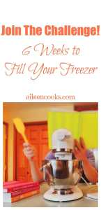 Join the Freezer Cooking Challenge! 6 Weeks to Fill Your Freezer with aileencooks.com
