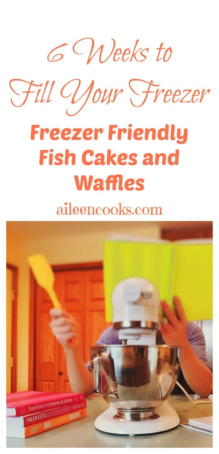 Join the freezer cooking challenge and easily make 18 freezer meals in 6 weeks. This week I show you how to make freezer friendly fish cakes and waffles. http://aileencooks.com