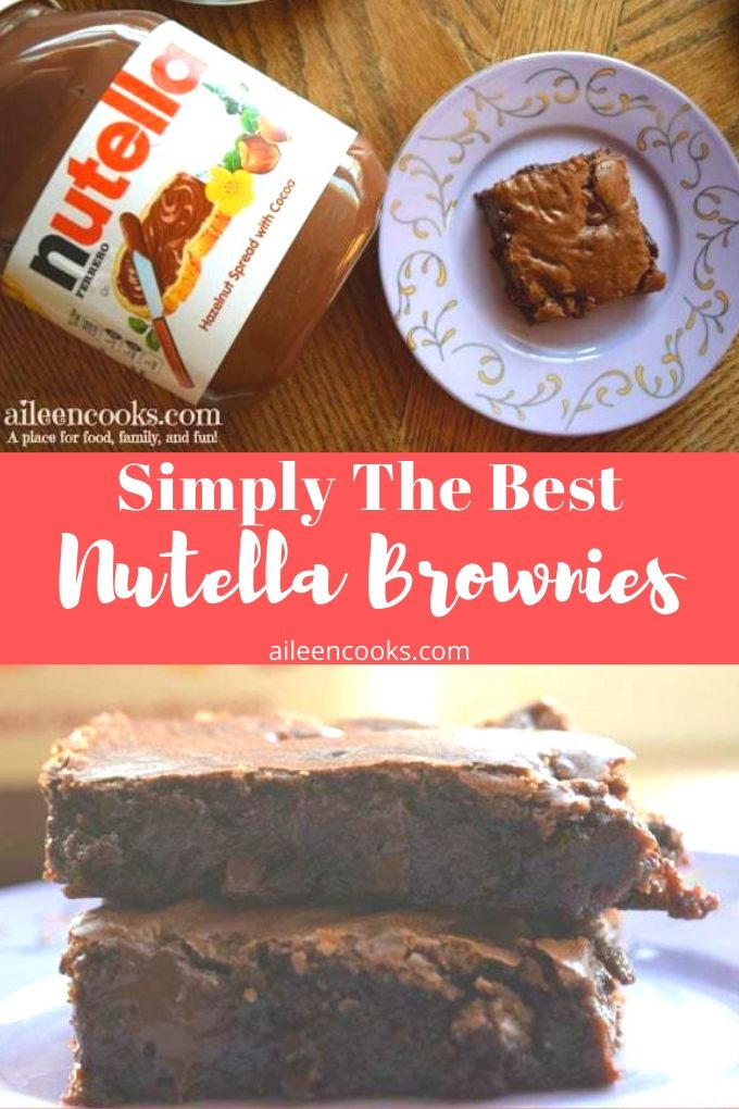 Fudgy and decadent, these Nutella Brownies are a special treat! You are going to love what Nutella does to a classic brownie recipe that makes amazing!