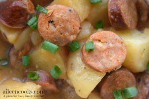 Crockpot Cajun Sausage and Potatoes