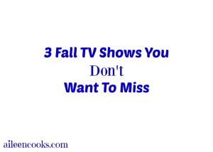 My Favorite New Fall Shows