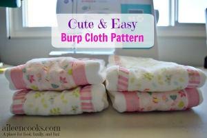 Cute & Easy Burp Cloth Pattern