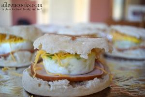 Freezer Friendly Ham & Egg Breakfast Sandwiches
