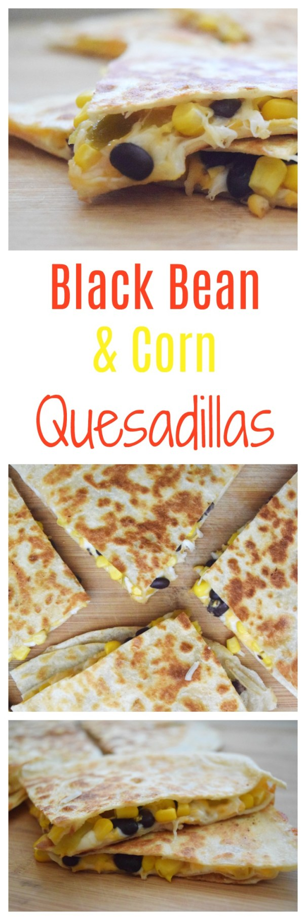 These black bean and corn quesadillas are full of flavor. They are perfect for an easy kid-friendly meal and work for Meatless Monday, too!