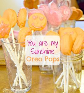 You Are My Sunshine Oreo Pops