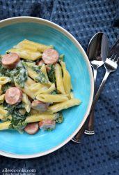 one pot sausage and kale pasta
