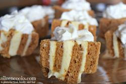 Easy 2 ingredient pumpkin roll cupcakes. The perfect pumpkin recipe for the non baker!