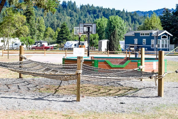 Playground at Casini Ranch Resort at the Russian River.