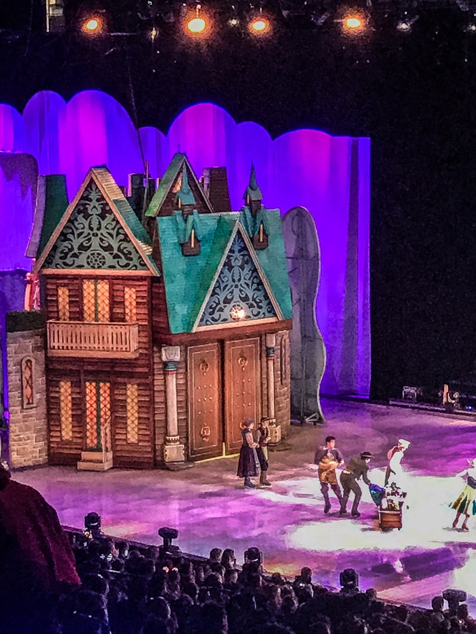 The Arendelle set from Disney on Ice.