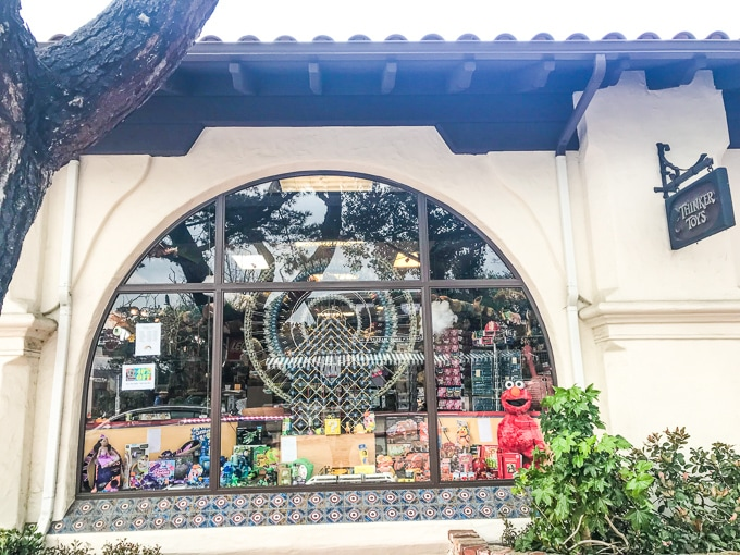 The store front of Thinker Toys in Carmel by the Sea, CA