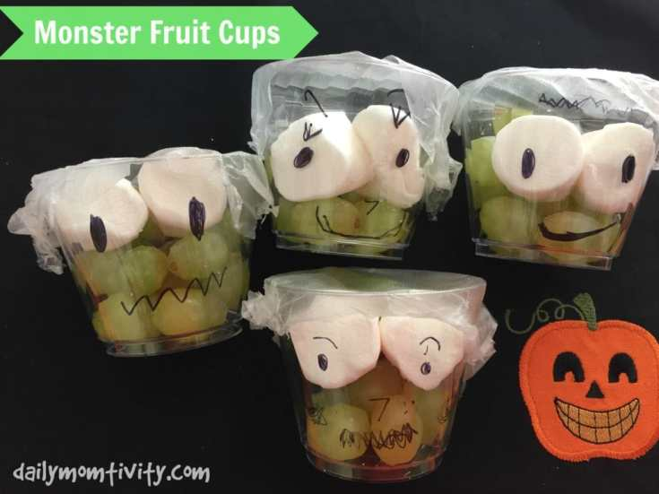 Monster Fruit Cups (A Healthy and Fun Halloween Treat)