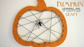 Pumpkin Spiderweb Halloween Craft