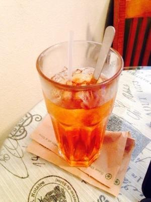 iced tea and stirring spoon
