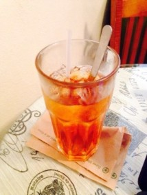 iced tea and stirring spoon