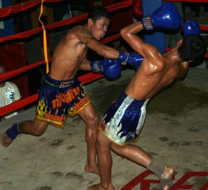 A Muay Thai fight