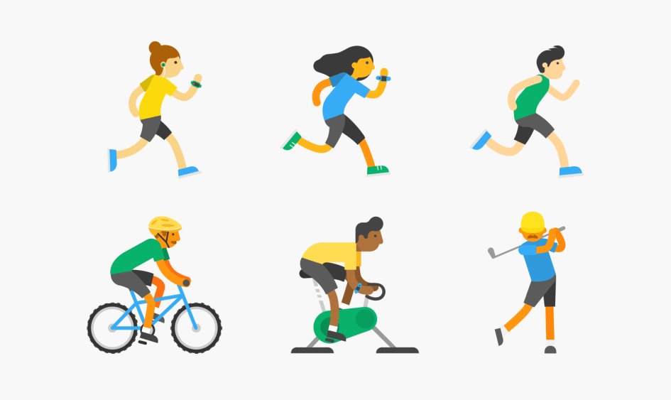 TomTom Sports characters