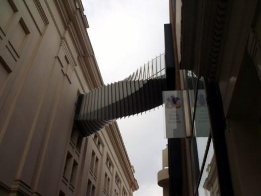 the bridge between the royal ballet school and opera house, London