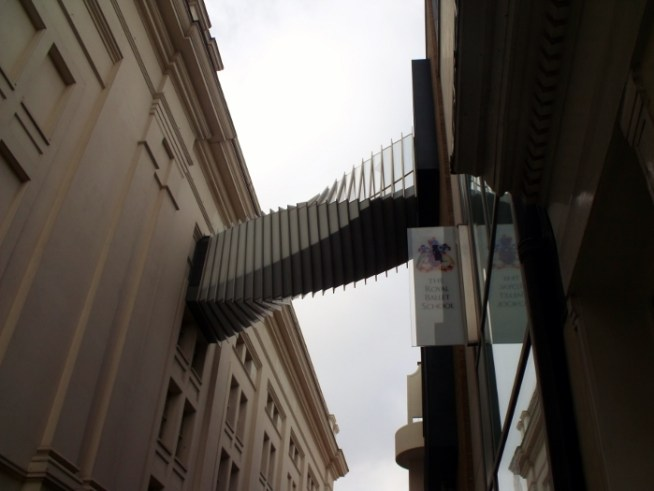 the bridge between the royal ballet school and opera house, London