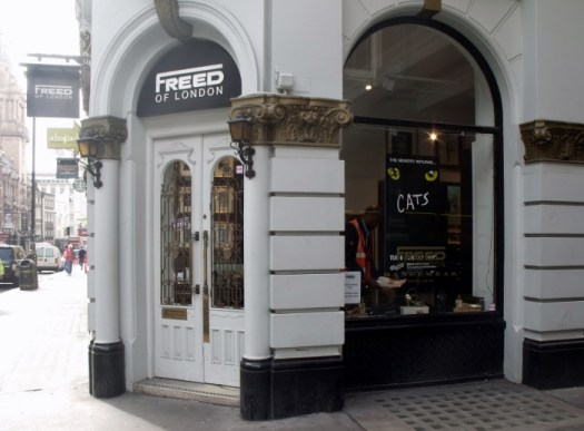 Freed of London, dancewear shop. UK. Ailish Sinclair | Author