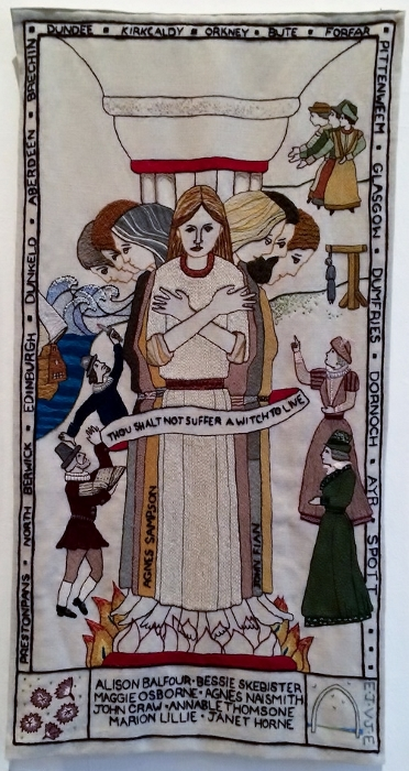 witches panel of The Great Tapestry of Scotland
