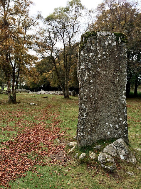 standing stone rectangular, at Clava