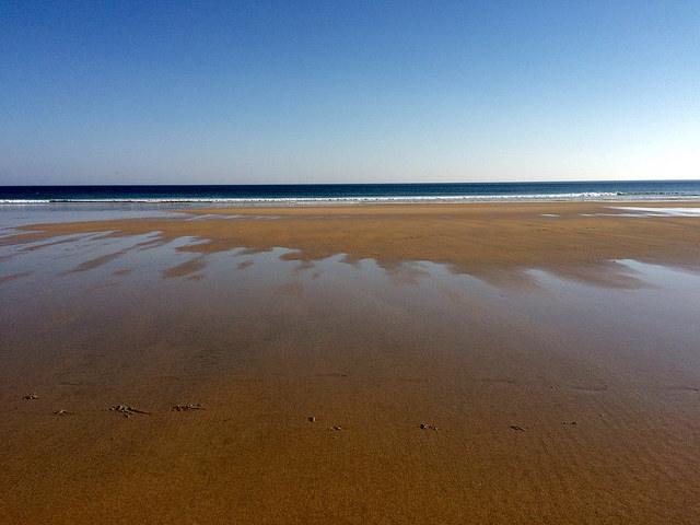 retreating waves