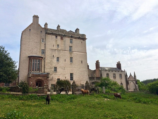 A Scottish castle: Delgatie