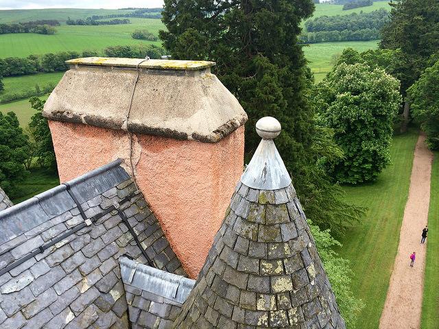 the roof of Craigievar