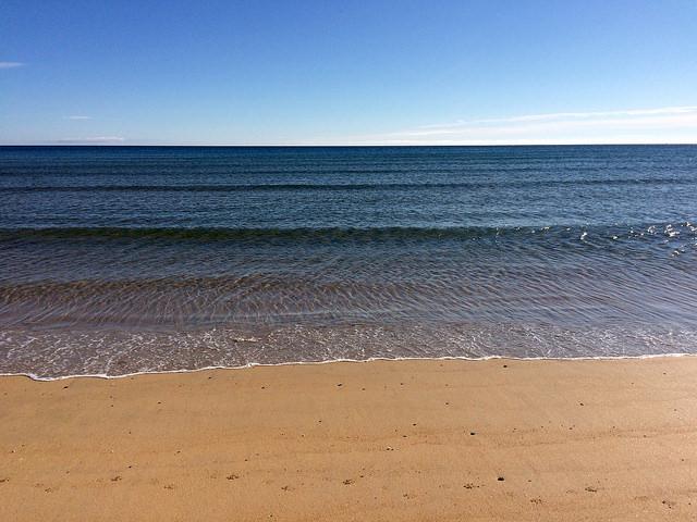 sea at Fraserburgh beach