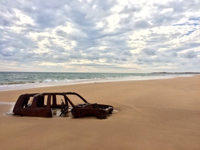 some wrecks that get stuck in the sand are not boats!