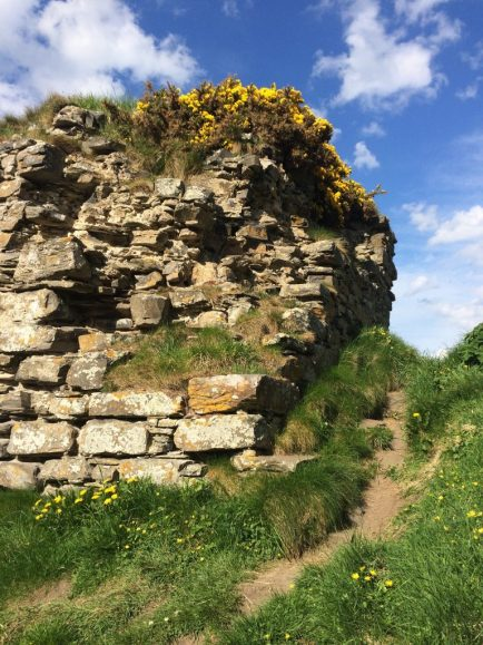 A chunk of Findlater Castle on the cliffs. Ailish Sinclair | Writer