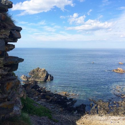 View of the sea from Findlater Castle in Scotland. Ailish Sinclair | Writer