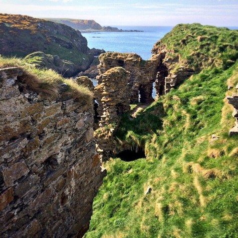 The old crumbling windows of Findlater Castle. Ailish Sinclair | Writer