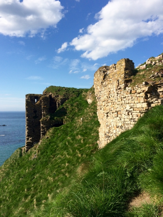 The side of Findlater Castle on the cliffs. Ailish Sinclair | Writer