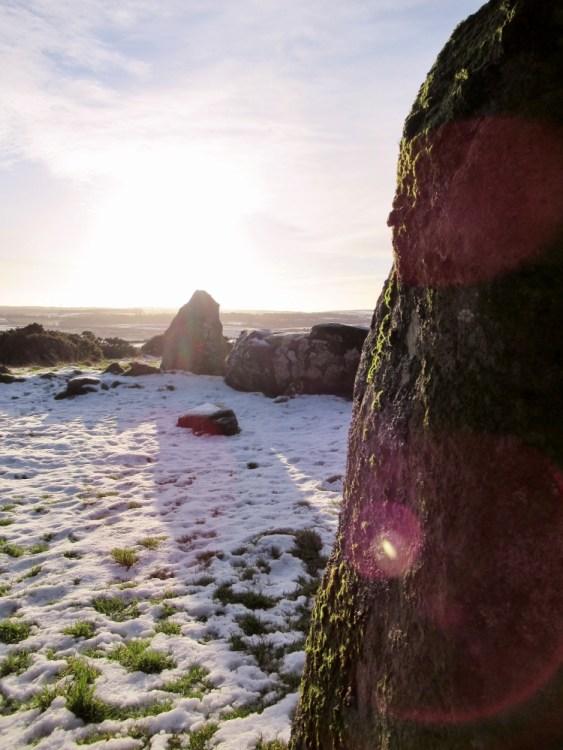 Sunshine and snow at Aikey Brae stone circle. Ailish Sinclair | Writer
