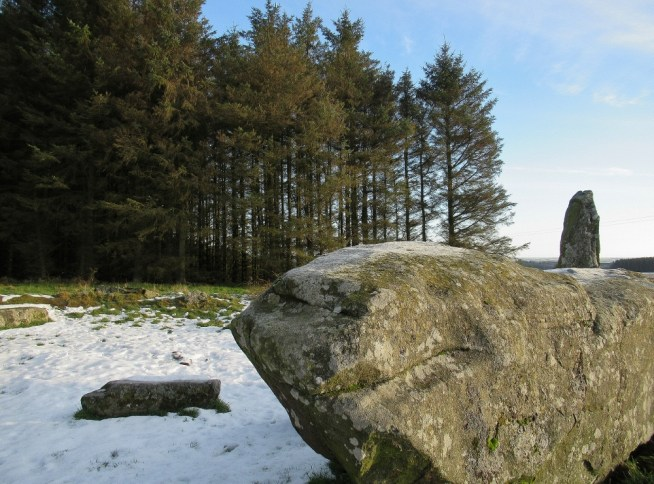 The huge recumbent stone at Aikey Brae stone circle.
