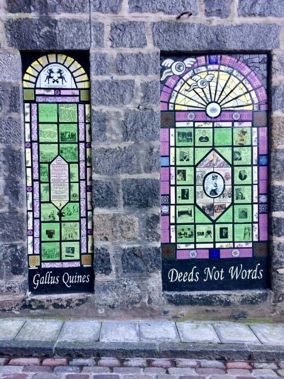 Galllus Quines. Wonderful street art in Aberdeen honouring those persecuted for witchcraft.
