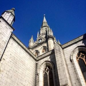 Steeple and clock of St Nicholas Kirk in Aberdeen