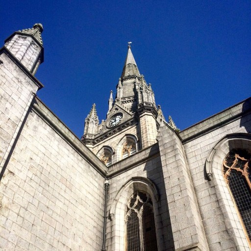 Steeple and clock of St Nicholas Kirk in Aberdeen