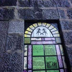 top of Quine Shrine in Aberdeen