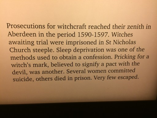 text, detailing some history of witchcraft in aberdeen