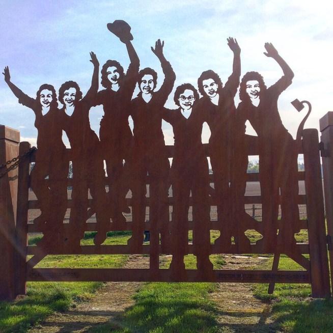 The Women's Land Army Memorial in Clochan - Ailish Sinclair, author