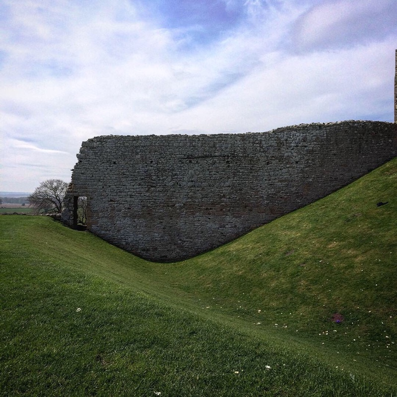 The castle ramparts