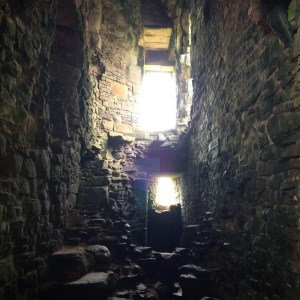 The interior of the old keep - Ailish Sinclair, author