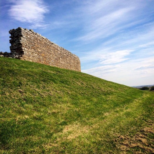 wall at Duffus Castle - Ailish Sinclair, author