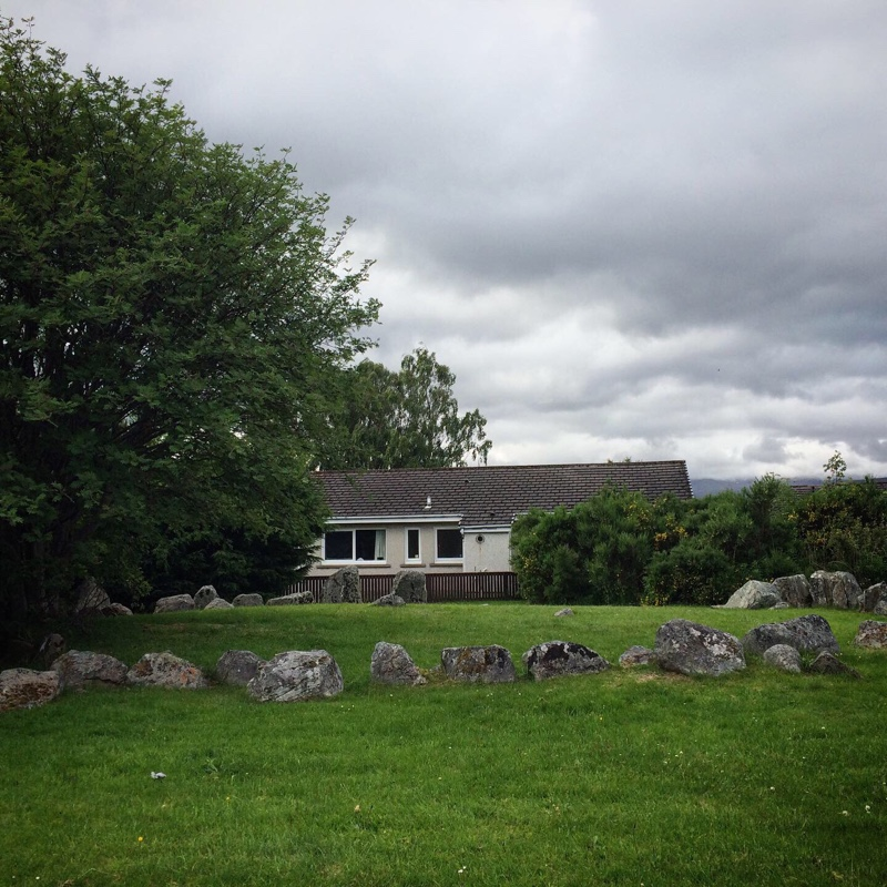 Aviemore stone circle and house